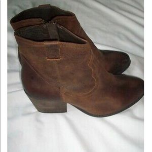 Altar'd State Leather Western Booties